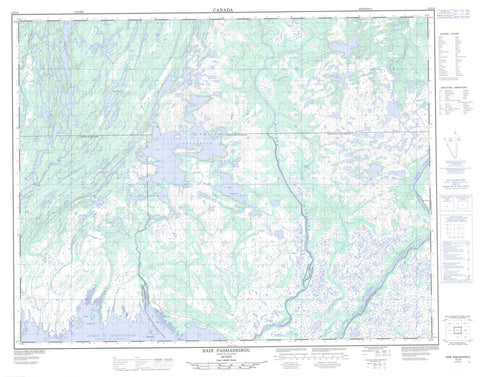 012L08 Baie Pashashibou Canadian topographic map, 1:50,000 scale