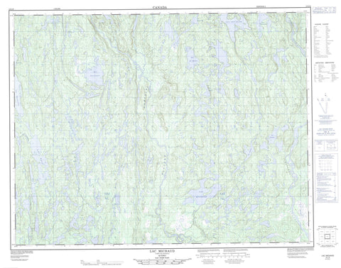 012L09 Lac Michaud Canadian topographic map, 1:50,000 scale