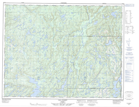 012L12 Lac Cugnet Canadian topographic map, 1:50,000 scale