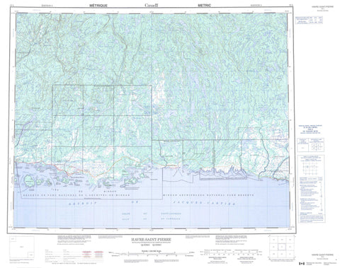 012L Havre Saint Pierre Canadian topographic map, 1:250,000 scale