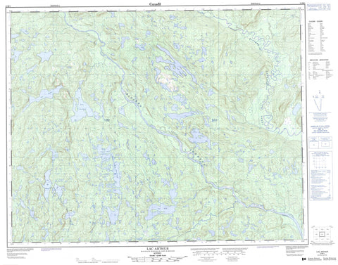 012M01 Lac Arthur Canadian topographic map, 1:50,000 scale