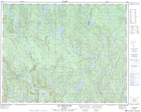 012M06 Lac Desaulniers Canadian topographic map, 1:50,000 scale