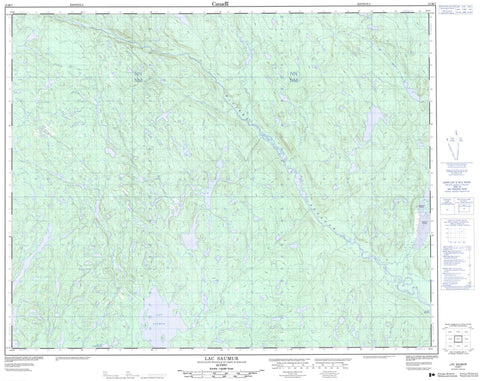 012M07 Lac Saumur Canadian topographic map, 1:50,000 scale