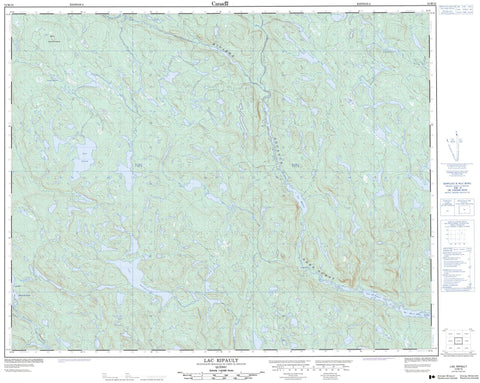 012M10 Lac Ripault Canadian topographic map, 1:50,000 scale