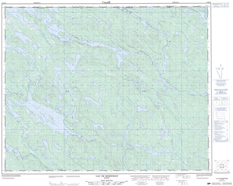 012M15 Lac De Morhiban Canadian topographic map, 1:50,000 scale