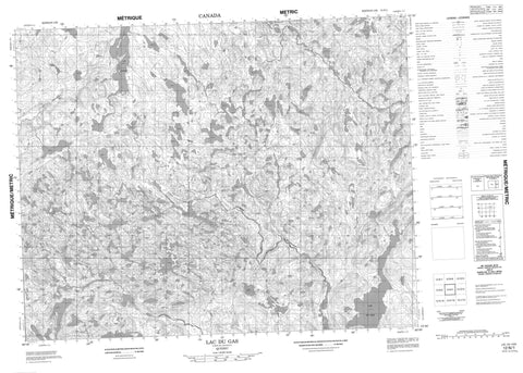 012N01 Lac Du Gas Canadian topographic map, 1:50,000 scale