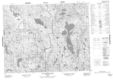 012N02 Lac Montcevelles Canadian topographic map, 1:50,000 scale
