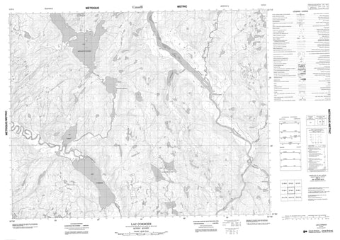 012N04 Lac Cormier Canadian topographic map, 1:50,000 scale