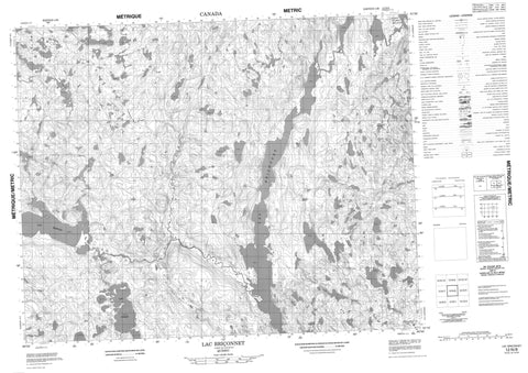 012N08 Lac Briconnet Canadian topographic map, 1:50,000 scale