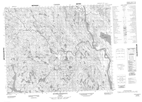 012N09 Riviere Mongeaux Canadian topographic map, 1:50,000 scale