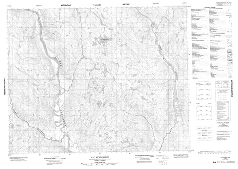 012N12 Lac Kerdelhue Canadian topographic map, 1:50,000 scale