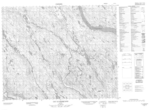 012N13 Lac Le Marquand Canadian topographic map, 1:50,000 scale