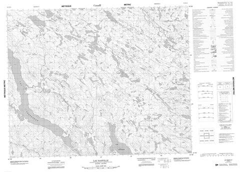 012N14 Lac Bastille Canadian topographic map, 1:50,000 scale