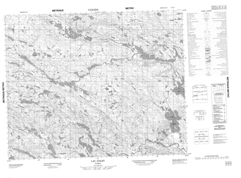 012N15 Lac Golet Canadian topographic map, 1:50,000 scale