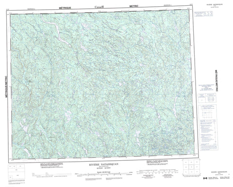 012N Riviere Natashquan Canadian topographic map, 1:250,000 scale