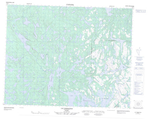 012O03 Lac Robertson Canadian topographic map, 1:50,000 scale