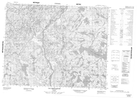012O04 Lac Bernadette Canadian topographic map, 1:50,000 scale