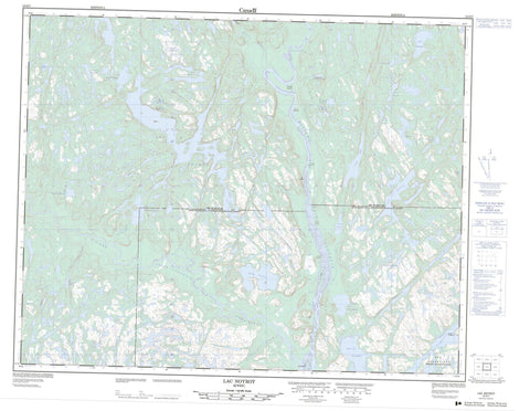 012O07 Lac Noyrot Canadian topographic map, 1:50,000 scale