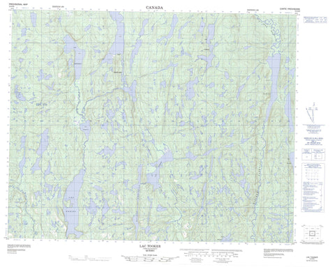 012O09 Lac Tooker Canadian topographic map, 1:50,000 scale