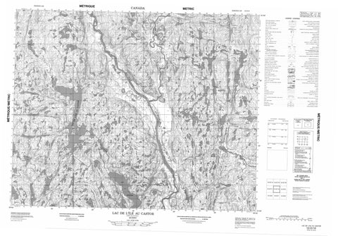 012O10 Lac L Ile Au Castor Canadian topographic map, 1:50,000 scale