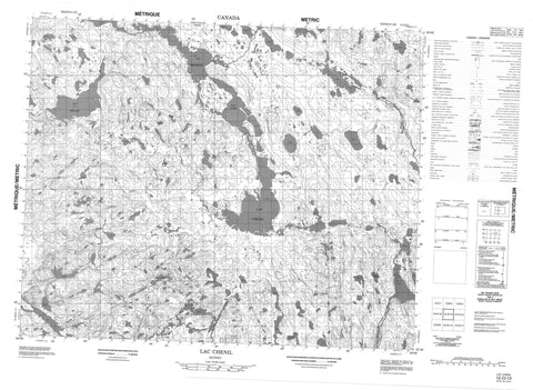 012O13 Lac Chenil Canadian topographic map, 1:50,000 scale