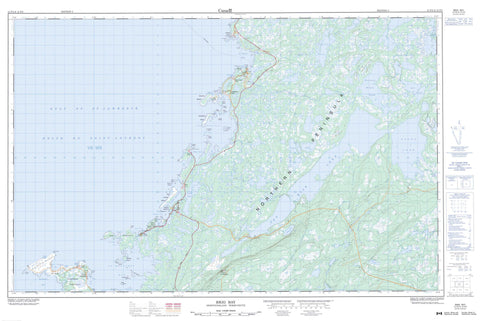 012P02 Brig Bay Canadian topographic map, 1:50,000 scale