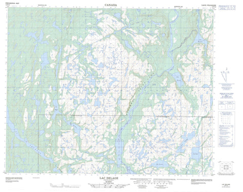 012P12 Lac Delage Canadian topographic map, 1:50,000 scale