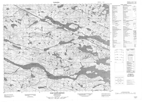 013A09 Port Hope Simpson Canadian topographic map, 1:50,000 scale