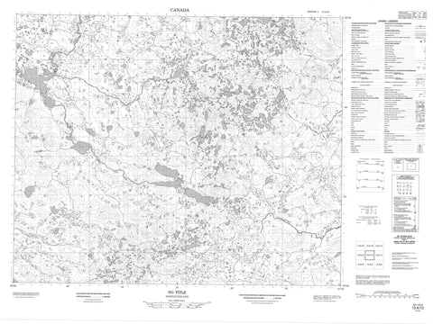 013A12 No Title Canadian topographic map, 1:50,000 scale