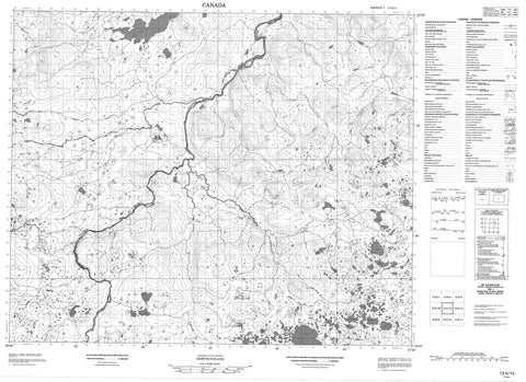 013A13 No Title Canadian topographic map, 1:50,000 scale