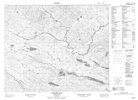 013A15 Jeffries Pond Canadian topographic map, 1:50,000 scale