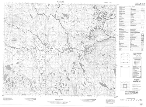 013B01 No Title Canadian topographic map, 1:50,000 scale