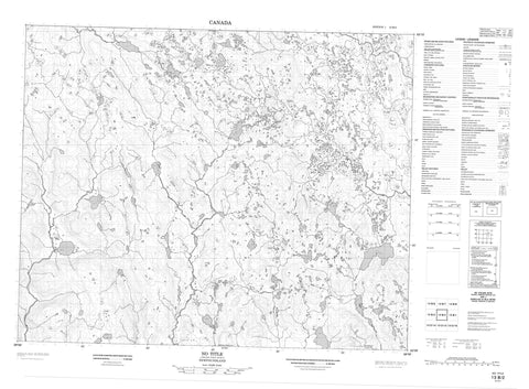 013B02 No Title Canadian topographic map, 1:50,000 scale