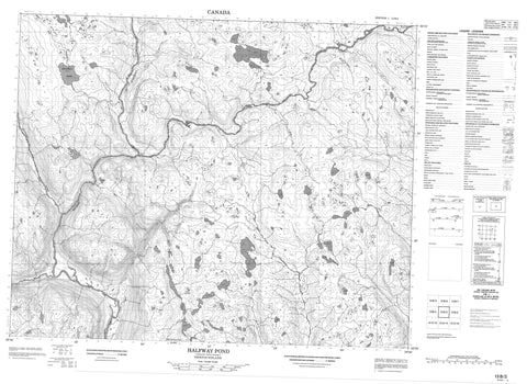 013B03 Halfway Pond Canadian topographic map, 1:50,000 scale