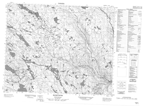 013B04 Matse River Canadian topographic map, 1:50,000 scale