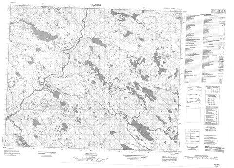 013B05 No Title Canadian topographic map, 1:50,000 scale