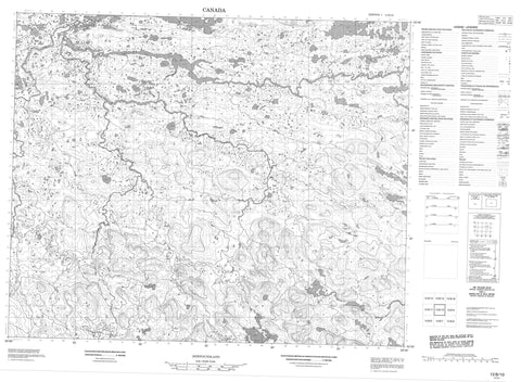 013B10 No Title Canadian topographic map, 1:50,000 scale