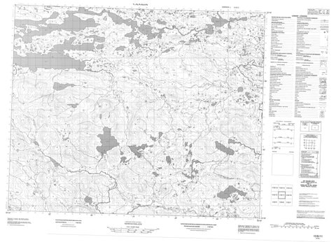 013B11 No Title Canadian topographic map, 1:50,000 scale