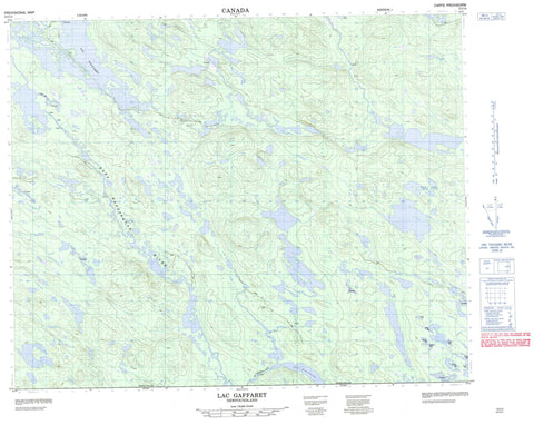 013C04 Lac Gaffaret Canadian topographic map, 1:50,000 scale