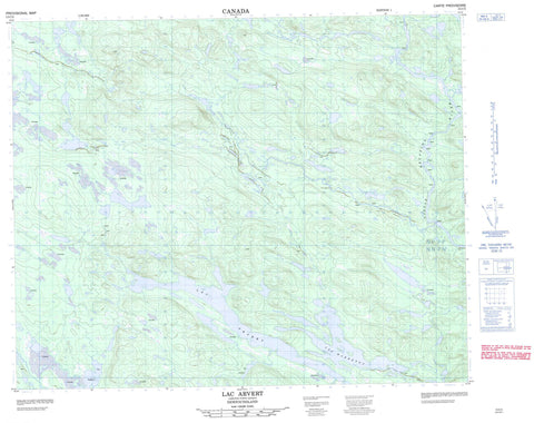013C05 Lac Arvert Canadian topographic map, 1:50,000 scale
