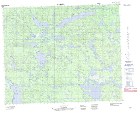 013C10 No Title Canadian topographic map, 1:50,000 scale
