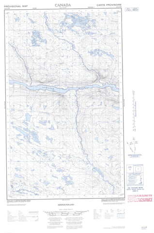 013C13W No Title Canadian topographic map, 1:50,000 scale