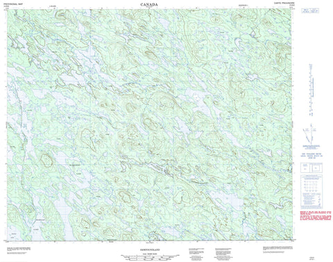 013D02 No Title Canadian topographic map, 1:50,000 scale