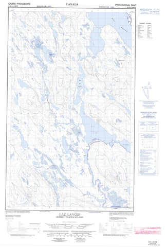 013D04W Lac Lavoie Canadian topographic map, 1:50,000 scale