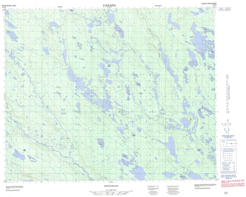 013D08 No Title Canadian topographic map, 1:50,000 scale