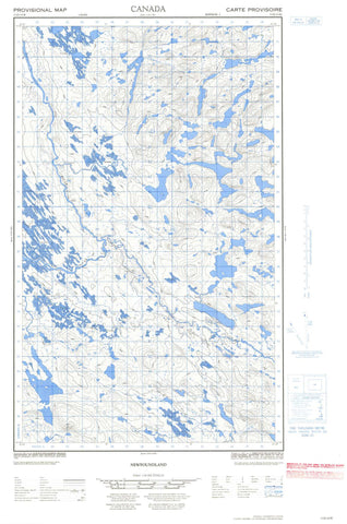 013D15W No Title Canadian topographic map, 1:50,000 scale
