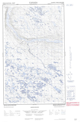 013D16E No Title Canadian topographic map, 1:50,000 scale