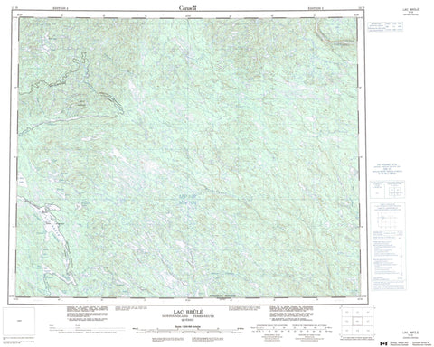 013D Lac Brule Canadian topographic map, 1:250,000 scale