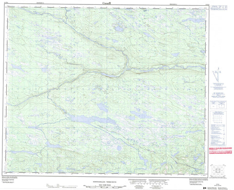 013E04 No Title Canadian topographic map, 1:50,000 scale
