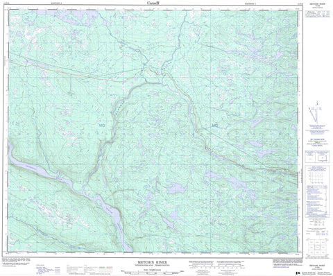 013E06 Metchin River Canadian topographic map, 1:50,000 scale